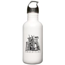 Odin with Ravens and Wolves Water Bottle