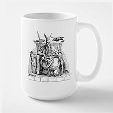 Odin with Ravens and Wolves Mug