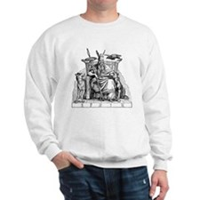 Odin with Ravens and Wolves Sweatshirt