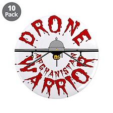 """Predator Drone Warrior 3.5"""" Button (10 pack)"""