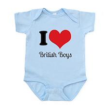 I Heart British Boys Body Suit