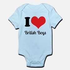 I Heart British Boys Body Suit