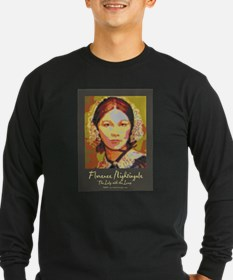 The Lady with the Lamp Long Sleeve T-Shirt