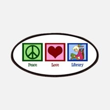 Peace Love Library Patches