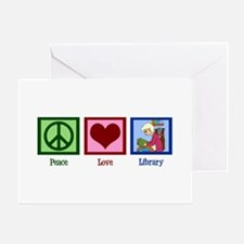 Peace Love Library Greeting Card