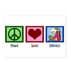 Peace Love Library Postcards (Package of 8)