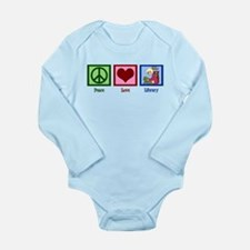 Peace Love Library Long Sleeve Infant Bodysuit