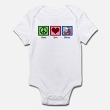Peace Love Library Infant Bodysuit