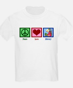 Peace Love Library T-Shirt