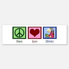 Peace Love Library Sticker (Bumper)