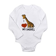 I Love My Daddies Giraffe Body Suit