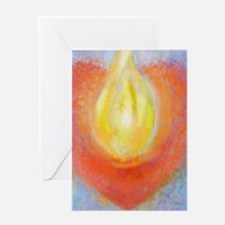 Heart Aflame Greeting Card