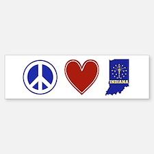 Peace Love Indiana Sticker (Bumper)