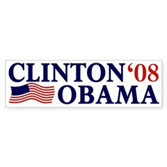 Clinton-Obama '08 Bumper Bumper Sticker