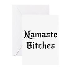 Namaste Bitches Greeting Cards (Pk of 10)
