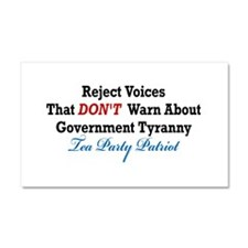 Government Tyranny Tea Party Patriot Car Magnet 20