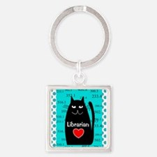 Librarian Square Keychain