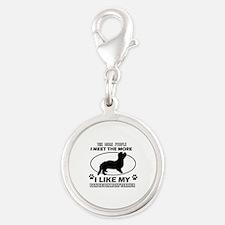 Dandie Dinmont Terrier doggy designs Silver Round