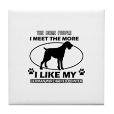 German Wirehaired Pointer doggy designs Tile Coast