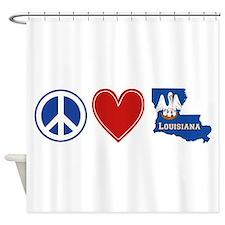 Peace Love Louisiana Shower Curtain
