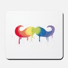 Rainbow Mustache Mousepad