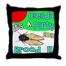 It's A Cicada Party Throw Pillow