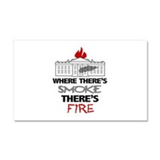 Where Theres SMOKE Theres Fire Car Magnet 20 x 12