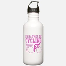 Cycling Pink Water Bottle