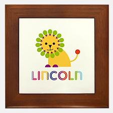 Lincoln Loves Lions Framed Tile