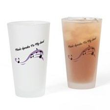 Music Speaks To My Soul Drinking Glass