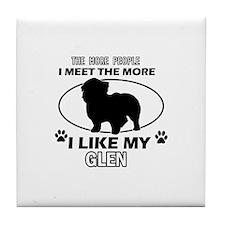 Glen doggy designs Tile Coaster
