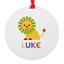 Luke Loves Lions Ornament