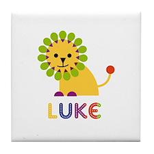 Luke Loves Lions Tile Coaster