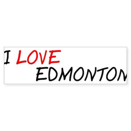 I Love Edmonton Bumper Sticker