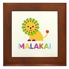 Malakai Loves Lions Framed Tile