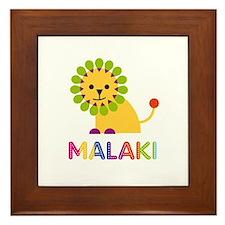 Malaki Loves Lions Framed Tile