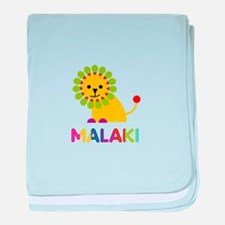 Malaki Loves Lions baby blanket