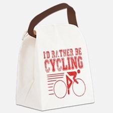 Cycling Red Canvas Lunch Bag