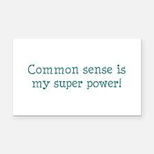 common sense Rectangle Car Magnet