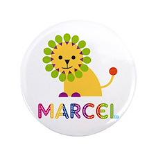 """Marcel Loves Lions 3.5"""" Button"""