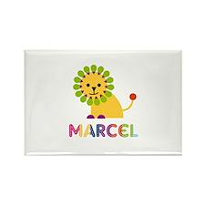 Marcel Loves Lions Rectangle Magnet