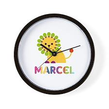 Marcel Loves Lions Wall Clock