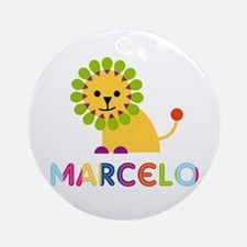 Marcelo Loves Lions Ornament (Round)