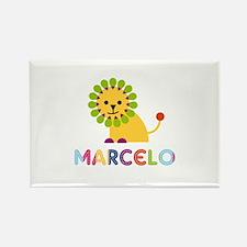 Marcelo Loves Lions Rectangle Magnet