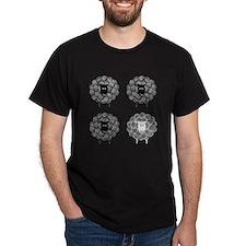 4upblacksheepforwhiteshirt.psd T-Shirt