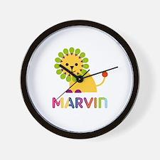 Marvin Loves Lions Wall Clock