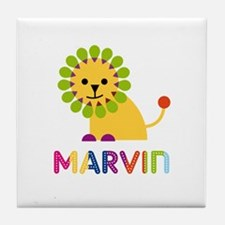 Marvin Loves Lions Tile Coaster