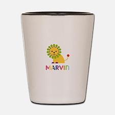 Marvin Loves Lions Shot Glass