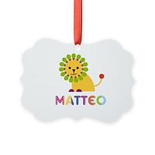 Matteo Loves Lions Ornament