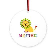 Matteo Loves Lions Ornament (Round)